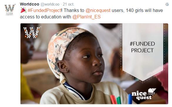 Projeto financiado